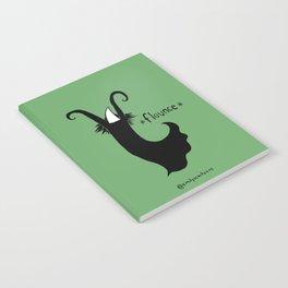 Flounce - green background Notebook