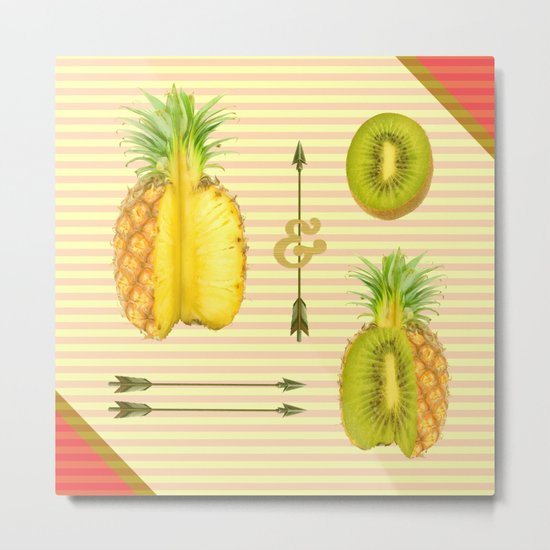 what if a pineapple fall in love with a kiwi ? Metal Print