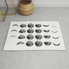Reversed Moon Phases Rug