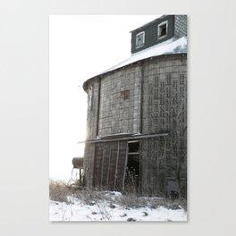 Round Corn Crib in the Winter Canvas Print