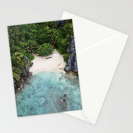 Isolated Beach Stationery Cards