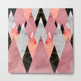 Textures Arsenal - Geometry Pink Metal Print