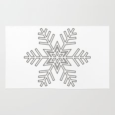 Snowflake | Black and White Rug