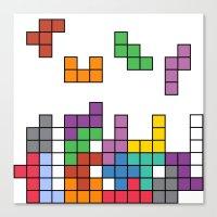 tetris Canvas Prints featuring Tetris by Adayan