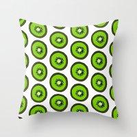 kiwi Throw Pillows featuring KIWI by Clove