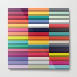 Accordion Fold Series Style J Patchwork Metal Print