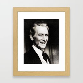 Peter Cushing, Vintage Actor Framed Art Print