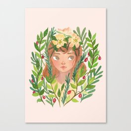 Herbs and Wildflower Nymph Canvas Print