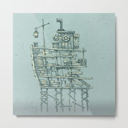 my ship in the port Metal Print