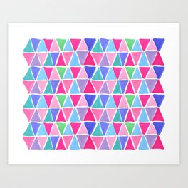 Pretty triangles Art Print