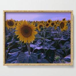 sunflower wonderland Serving Tray