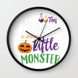 This Mummy is Expecting A Little Monster Halloween Wall Clock
