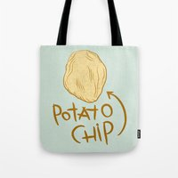 potato Tote Bags featuring POTATO CHIP by Josh LaFayette