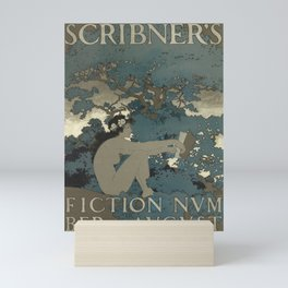 poster scribners fiction number. august. 1897 Mini Art Print