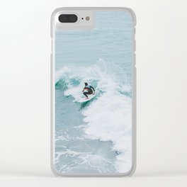 lets surf xviii Clear iPhone Case