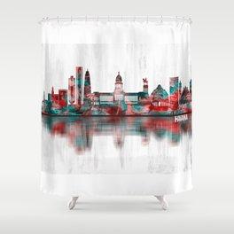 Havana Cuba Skyline Shower Curtain