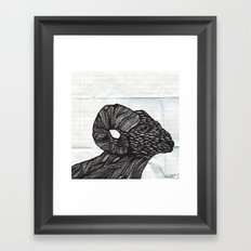 Baaaaaah Framed Art Print