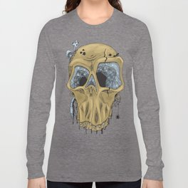 Weathered Skull Long Sleeve T-shirt