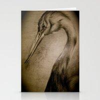 crane Stationery Cards featuring crane by AimeeManingas