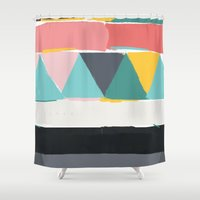 halo Shower Curtains featuring halo n19 by HaloCalo