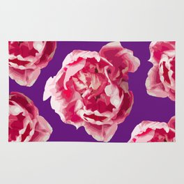Pink Tulips On A Violet Background #decor #society6 #homedecor #buyart Rug