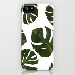 Tropical Plant Leaves iPhone Case