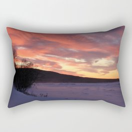 Wintry Sunset over the Porkies Rectangular Pillow