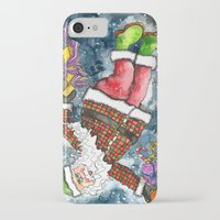 santa iPhone & iPod Cases featuring Santa by Shelley Ylst Art