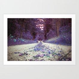 Walking through Purple Art Print