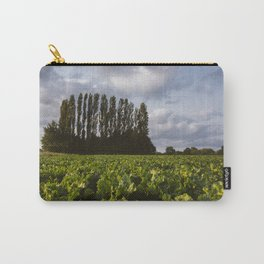 Field of sugar beat in evening light. Holme Hale, Norfolk, UK Carry-All Pouch