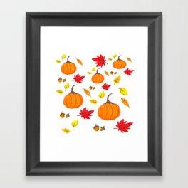 Fall Feels Framed Art Print