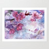 """sakura Art Prints featuring """"Sakura"""" by Emma Reznikova"""
