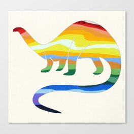 Rainbow Apatosaurus Canvas Print