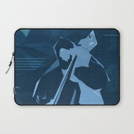Jazz Contrabass Poster Laptop Sleeve