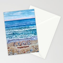 Ocean Waves of Love Stationery Cards
