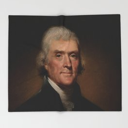 portrait of Thomas Jefferson by Rembrandt Peale Throw Blanket