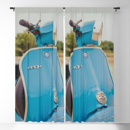 Vintage Blue Scooter Blackout Curtain