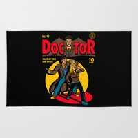 comic Area & Throw Rugs featuring Doctor Comic by harebrained