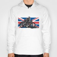 cafe racer Hoodies featuring Norton TT Racer by Ernie Young