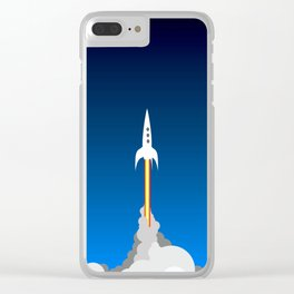 Blast Off! Clear iPhone Case