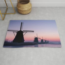 Windmills at Sunrise II Rug