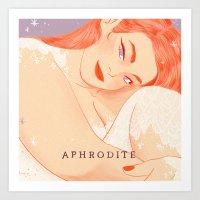 Greek Mythology Aphrodite Art Print