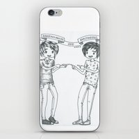 danisnotonfire iPhone & iPod Skins featuring Dan and Phil 2 by Sanni Salmela