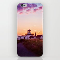 Discovery Park Lighthouse at sunset iPhone & iPod Skin