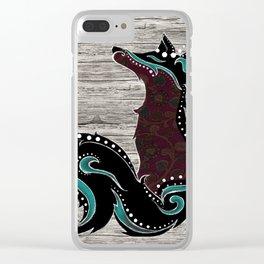 Bohemian Zorro Fox (left) Clear iPhone Case