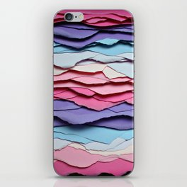 Colour waves iPhone Skin