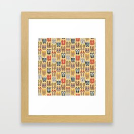 Hard choice // shoes on yellow background Framed Art Print