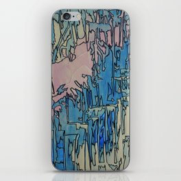 Drippin' Abstract Linear Modern Painting iPhone Skin