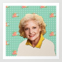 golden girls Art Prints featuring Golden Girls - Rose by courtneeeee