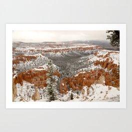 Snowy Bryce Canyon Art Print
